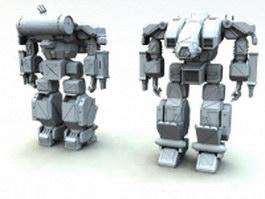 Mobile suits battle robot 3d preview