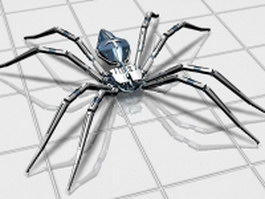 Mechanical spider 3d model preview