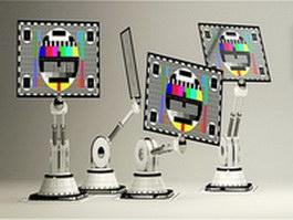 Screen robot 3d model preview