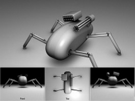 Little fighting robot 3d preview