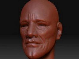 Older man head 3d preview