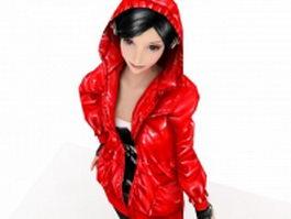 Cute Asian girl 3d model preview