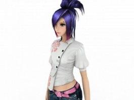 Sweet girl 3d model preview