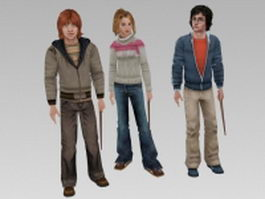 Harry Potter characters 3d preview