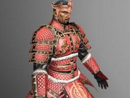 Korean warrior 3d model preview