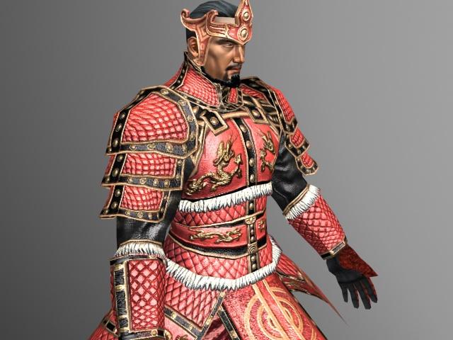 Ancient Korean Warrior 3d model 3ds Max files free