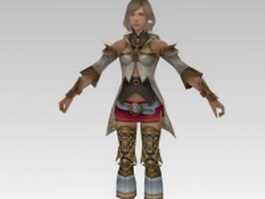 Fantasy warrior princess 3d preview