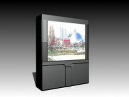 CRT rear-projection TV 3d preview
