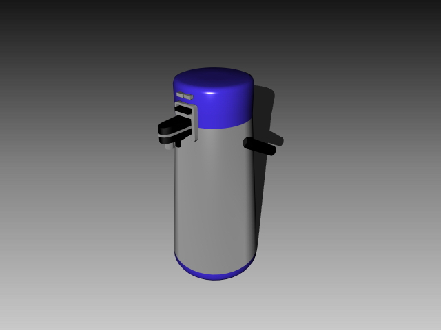 Home thermos flask 3d rendering