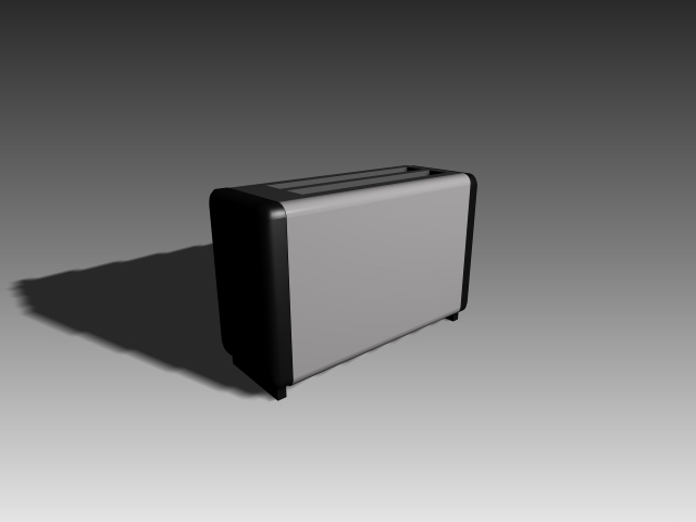 Two-slot toaster 3d rendering