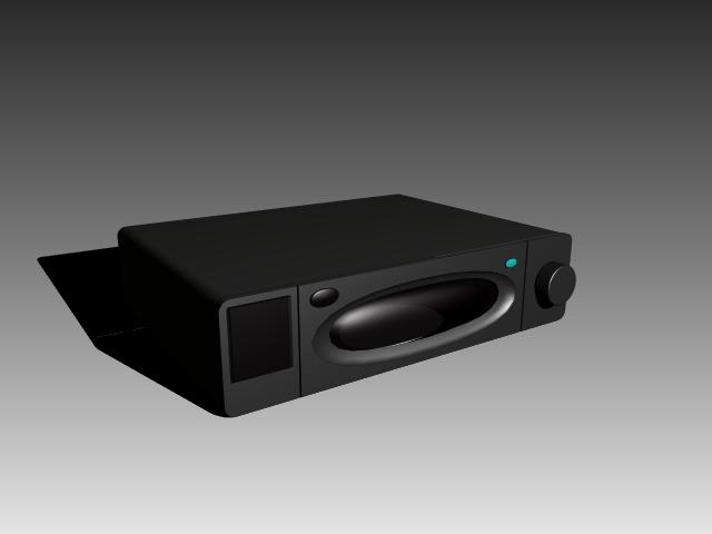 CD player 3d rendering