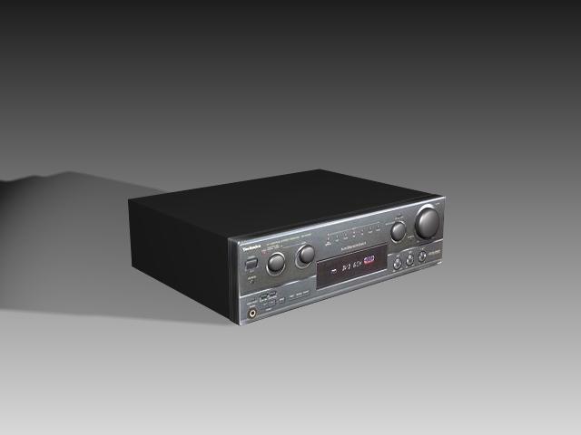 Home audio amplifier 3d rendering