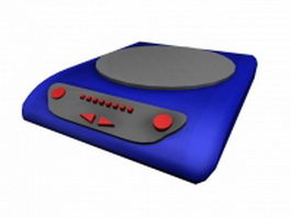Consumer induction cooker 3d model preview