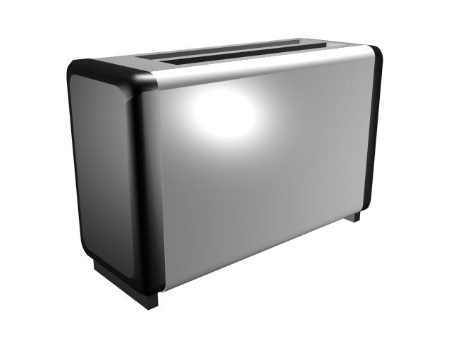 Electric bread toaster 3d rendering