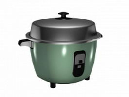 Electric rice cooker 3d preview