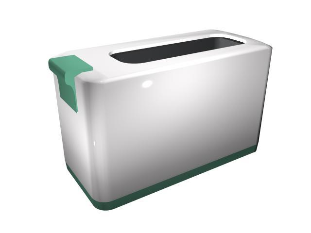 Pop-up toaster 3d rendering