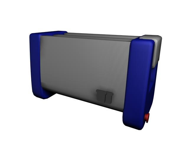 Household toaster 3d rendering