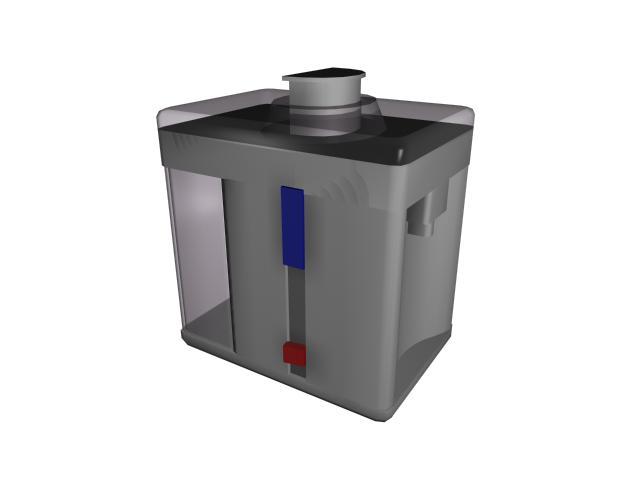 Electric juicer 3d rendering