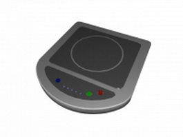 Portable induction cooktop 3d model preview