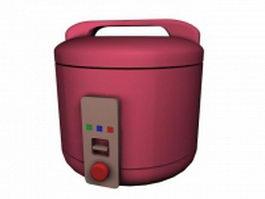 Pink rice maker 3d model preview