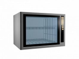 Modern microwave oven 3d model preview