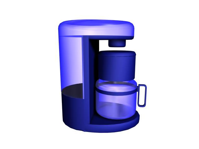Personal mini coffee maker 3d rendering