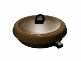 Electric pan 3d model preview