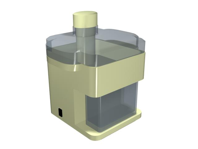 Fruit juicer machine 3d rendering