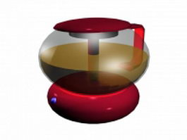 Electric tea kettle 3d preview