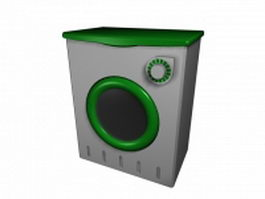Domestic washing machine 3d preview