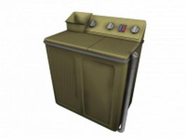 Vintage washing machine 3d preview