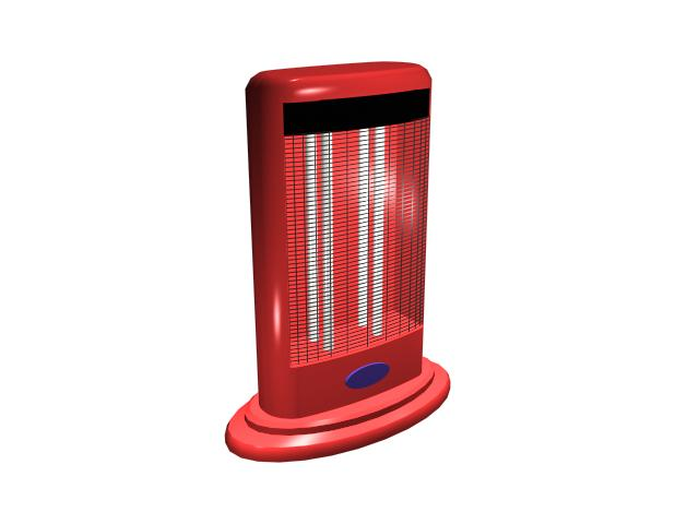 Portable space heater 3d rendering