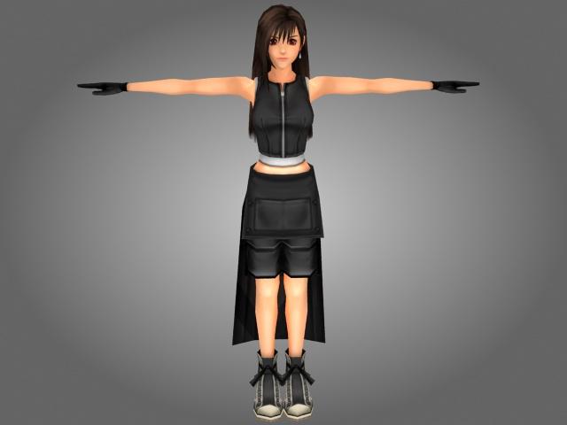 Beautiful CGI Girl 3d model 3ds Max files free download
