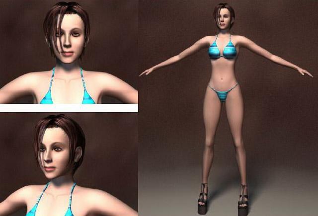 Bikini woman 3d rendering
