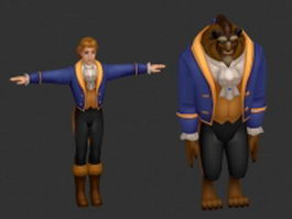 Beauty and the Beast 3d preview