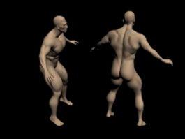 Mesomorph man 3d model preview