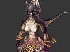 Naga Warrior 3d preview