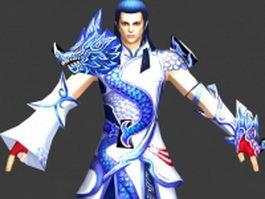 Ancient Chinese swordsman 3d preview