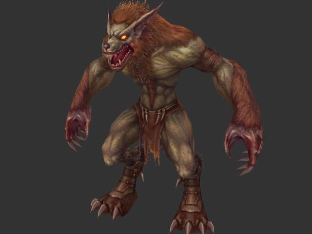 Werewolf 3d rendering