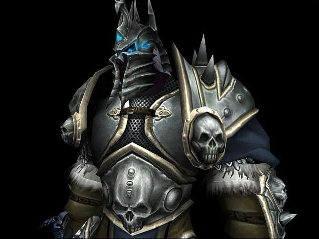 Lich King Arthas 3d rendering