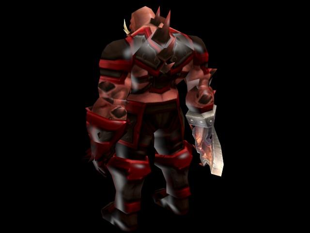 Orc Warrior 3d rendering