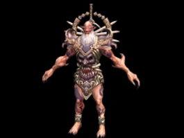 Monster warrior 3d model preview