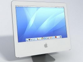 Apple monitor 3d model preview