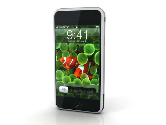 iPhone G1 3d rendering
