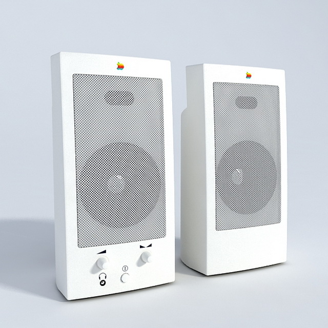 Acoustic speakers 3d rendering