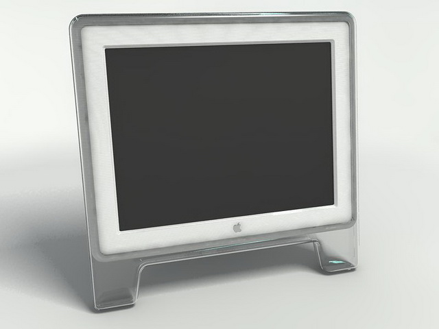 Mac monitor 3d rendering
