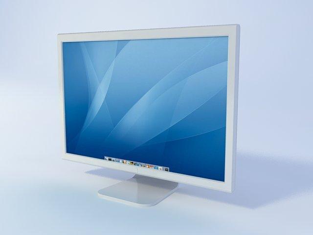 Apple LED Cinema display 3d rendering