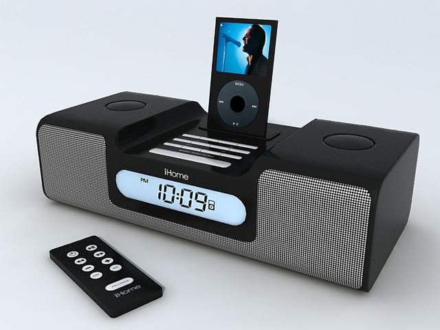 iHome iH6 for iPod 3d rendering