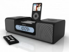 iHome iH6 MP3 docking station 3d preview