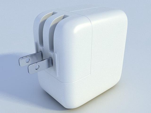 iPod power adapter 3d rendering
